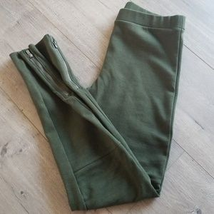 Old Navy Teen Girls leggings Military Green Sz 14